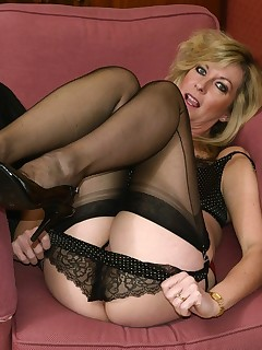 Remarkable mature women sex in stockings and panty hose not